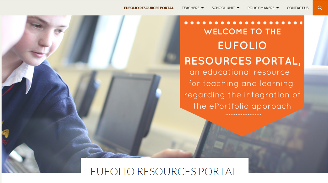 EUfolio Resources Portal screenshot